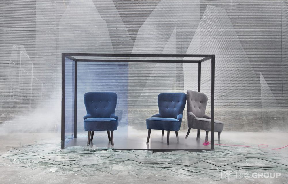 Fotel welurowy, ciemnoniebieski