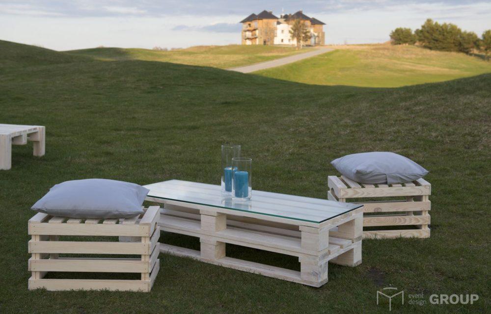 Skrzynka drewniana - siedzisko
