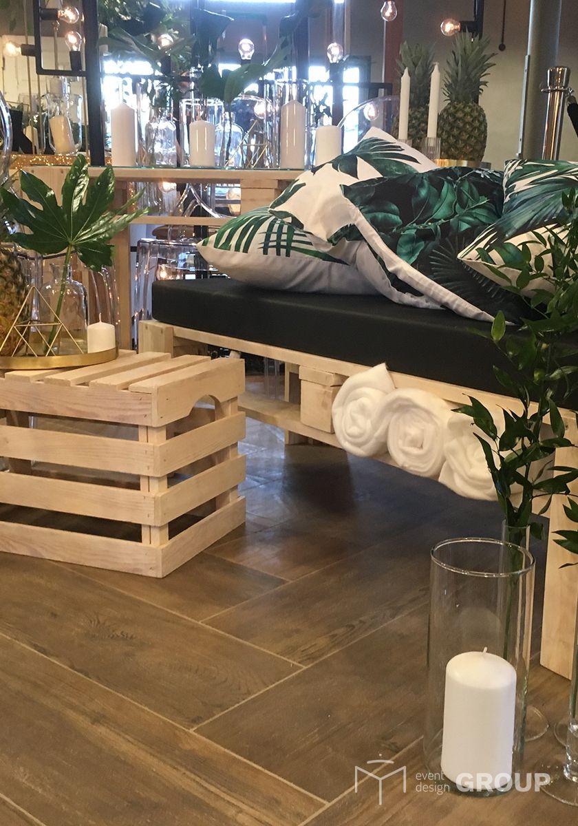 Skrzynka drewniana - stolik