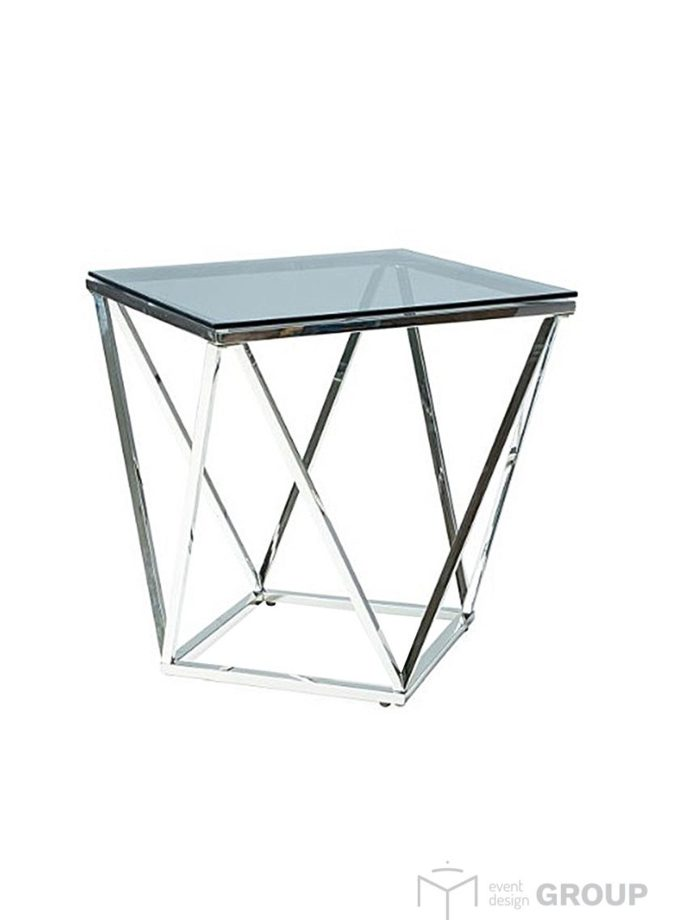 Stolik – czarny, szklany blat