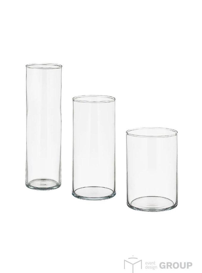 Wazon szklany – komplet 3 szt