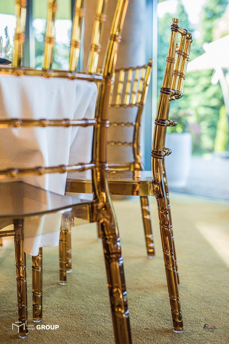 Krzesło bursztynowe Chiavari - Wypożyczalnia mebli